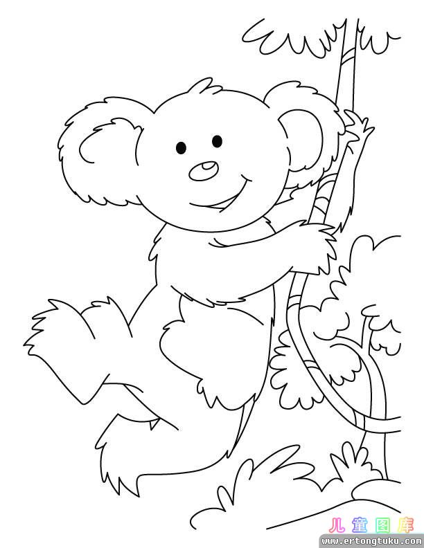 christmas koala coloring pages photo 17
