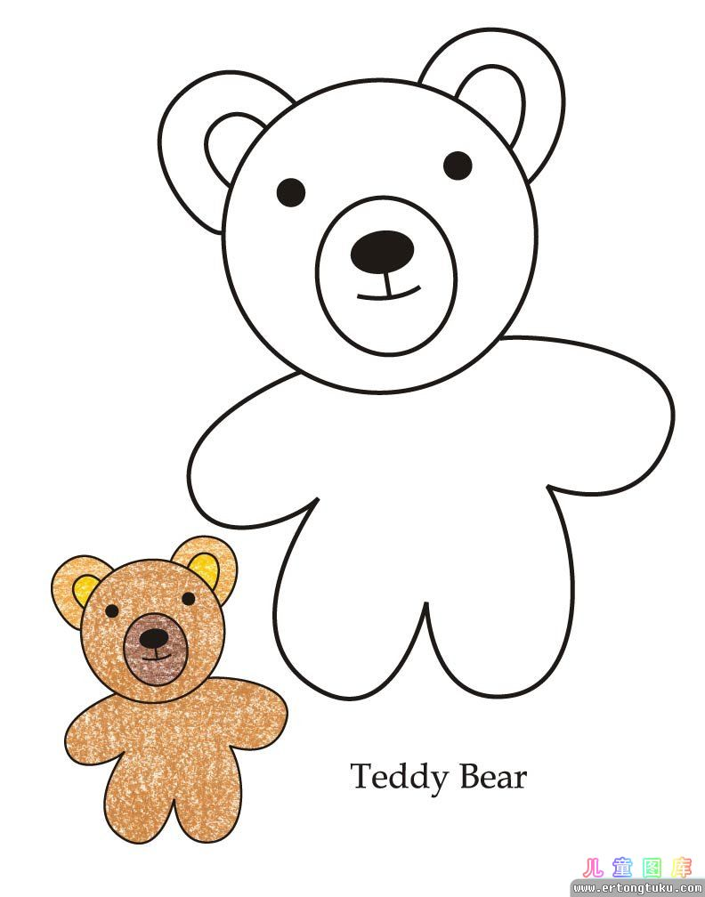 Color Page Of A Teddy Bear