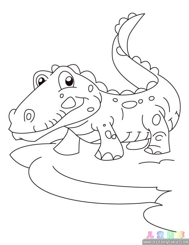 free baby crocodile coloring pages