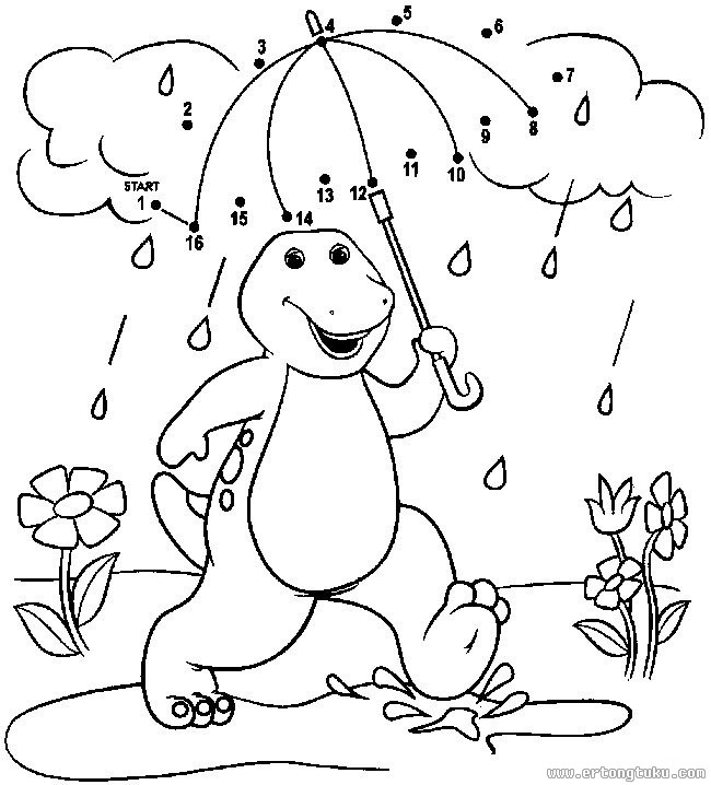 for Barney halloween coloring pages