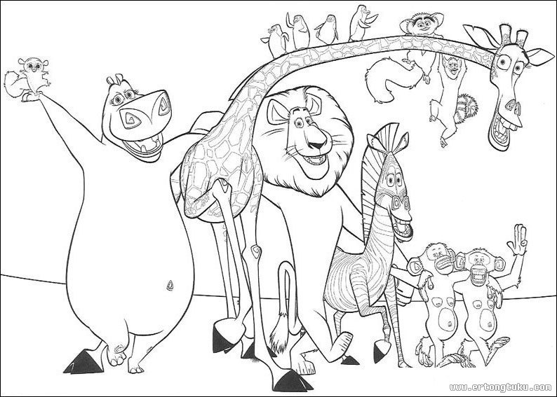 for King julian coloring pages