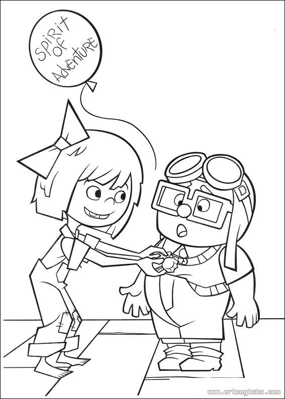 up house coloring pages -