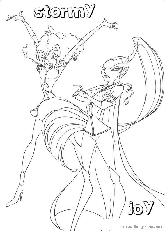 winx club witches coloring pages - photo#10