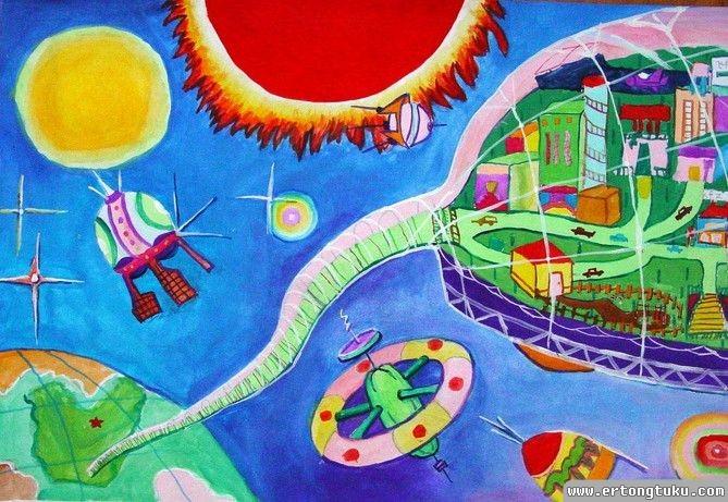 太空城市 获奖科幻画