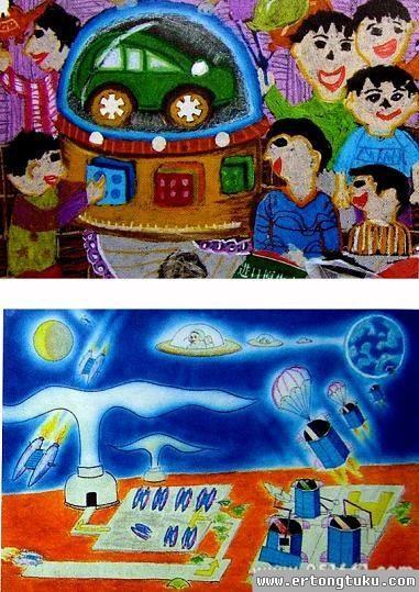 儿童水墨画-科幻世界