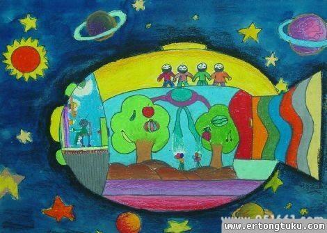 儿童科幻画-科幻鱼
