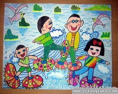 儿童科幻画-玩耍