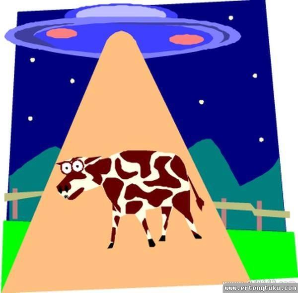 儿童科幻画-外星来的老牛