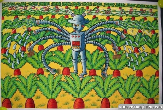 机器人洒水机除草机儿童获奖科幻片图片