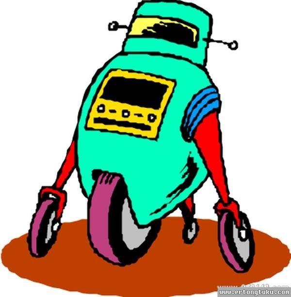 儿童科幻画-机器人邮递员