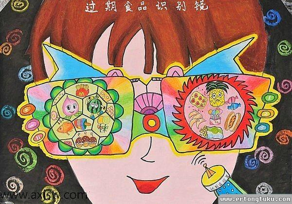 儿童科幻画-过期食品识别眼睛