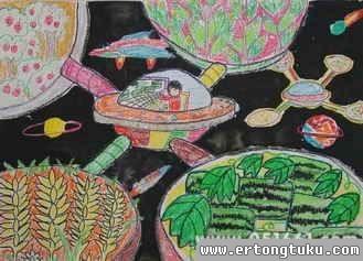 儿童科幻画-科幻星球