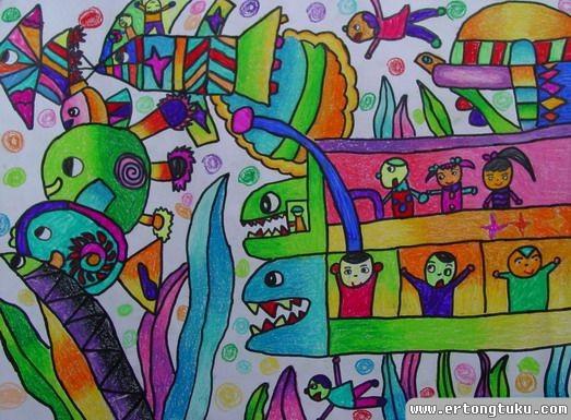 未来舰队儿童科幻作品画