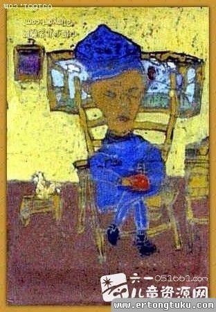 儿童版画-我的爷爷