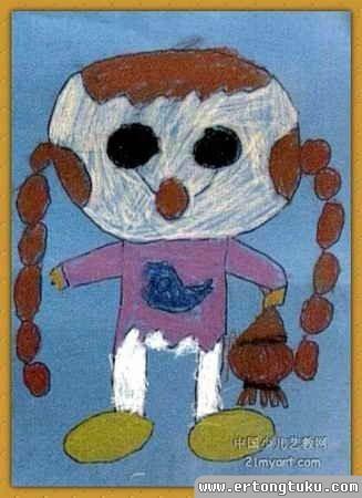儿童版画-自画像