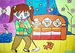关于五一劳动节儿童画