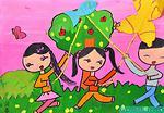 放风筝的儿童画大全