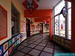 明亮的文化艺术走廊