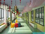 敞亮多彩的幼儿园走廊