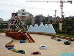 高档幼儿园玩沙池海盗船造型设计