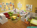 温馨整洁的幼儿图书室