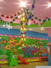 圣诞节环境布置_幼儿园吊饰环境布置_装饰_图片_设计_作品大全 - 儿童图库