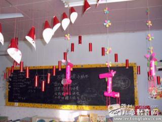 教室吊饰布置图片