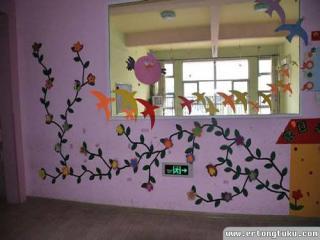 幼儿园大班室外墙面环境布置