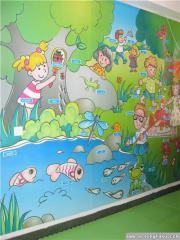 幼儿园大班墙面布置:英语角
