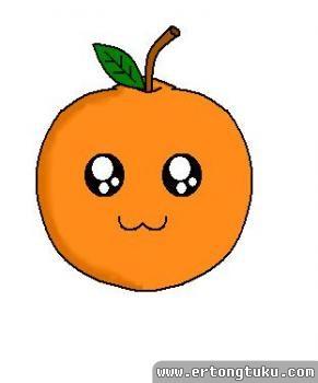 如何画橙子简笔画