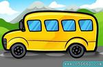 如何画校车 校车简笔画步骤图