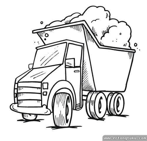 卡车简笔画_儿童简笔画交通工具-儿童图库
