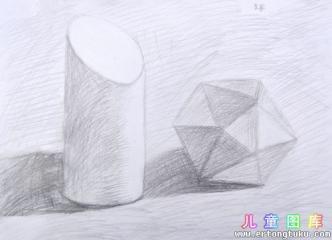 静物素描几何体