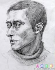 男青年素描