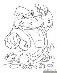 大猩猩涂色画