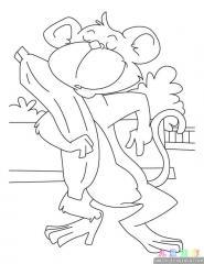 卡通猴子涂色画