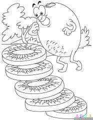 猕猴桃涂色画