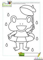 可爱的青蛙填色画