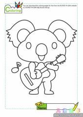 可爱树熊填色画