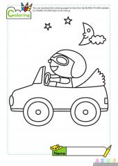 神气的小司机填色画