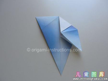 折纸鹦鹉图解 步骤12