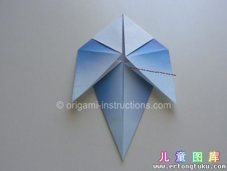 折纸鹦鹉图解 步骤13