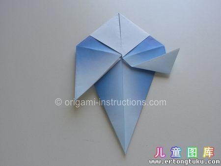 折纸鹦鹉图解 步骤14