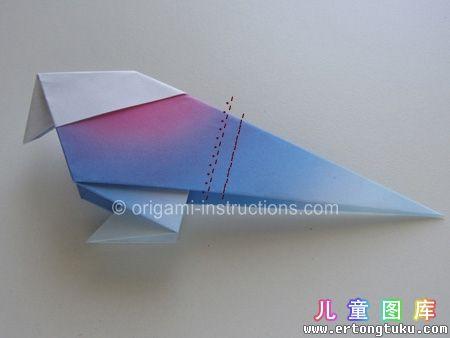 折纸鹦鹉图解 步骤17
