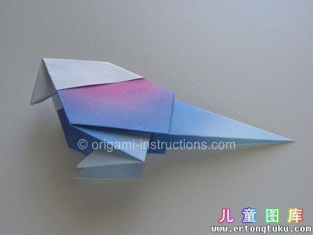 折纸鹦鹉图解 步骤18