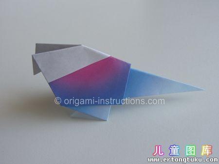 折纸鹦鹉图解 步骤19