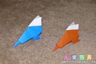 折纸鹦鹉图解 步骤20
