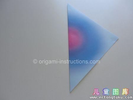 折纸鹦鹉图解 步骤2