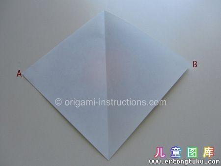 折纸鹦鹉图解 步骤3