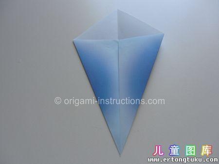 折纸鹦鹉图解 步骤4